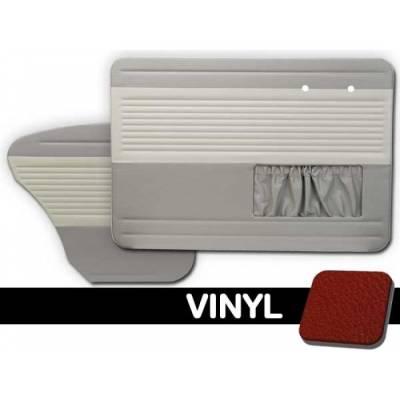 Seats & Upholstery - TMI Products - 1956 - 1964 Volkswagen Bug Sedan OEM Classic Door Panels - Full Set w/Pocket on Left Side