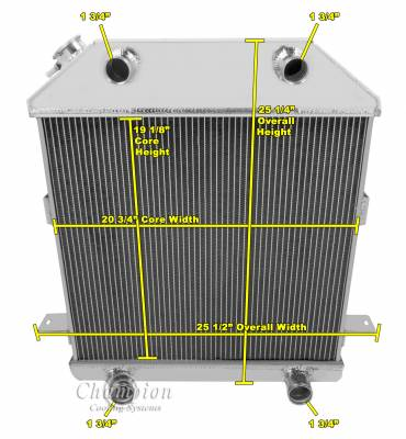 Champion Cooling Systems - 1939 - 1941 Ford/Mercury with Ford Flathead Configuration CC4001FH - Image 2