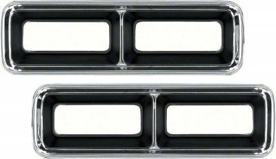 Lighting - Tail Lights, Back Up Lights, Marker Lights - OER - 1968 Camaro Tail Lamp Bezel Set (pr)