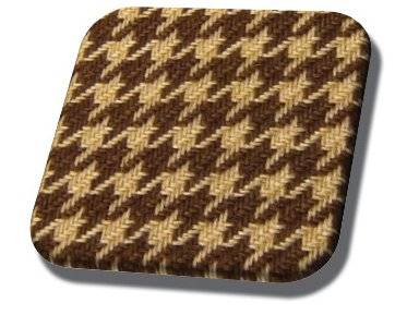 Brown and Ginger Houndstooth