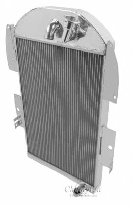 Champion Cooling Systems - 1934-1936 Chevy Pick Up Truck w/Inline Six Champion Three Row Radiator CC3436 - Image 3