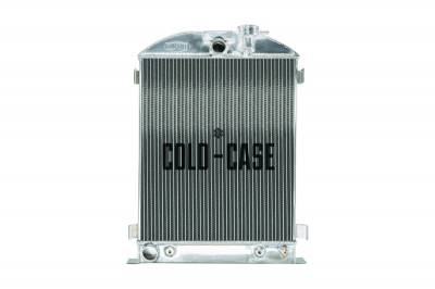 Cold Case - 1932 Highboy Ford Engine 25.5 Inch Aluminum Performance Radiator Cold Case Radiators