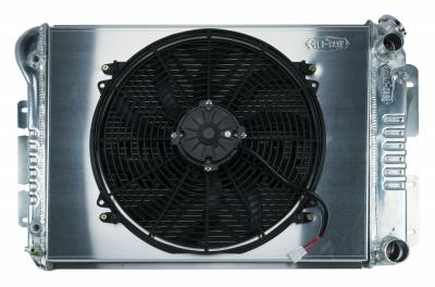 Radiators - Radiator Combos - Cold Case - 67-69 Camaro/Firebird LS SWAP Aluminum Radiator And 16 Inch Fan Kit Cold Case Radiators