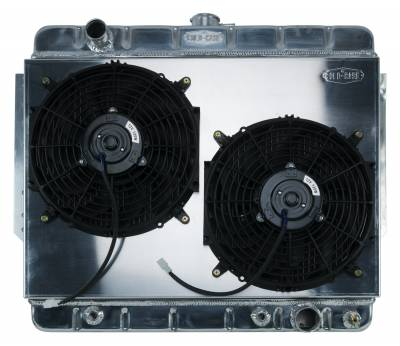 Radiators - Radiator Combos - Cold Case - 66-68 Impala Aluminum Radiator and Dual 12 Inch Fan Kit Stamped Cold Case Radiators