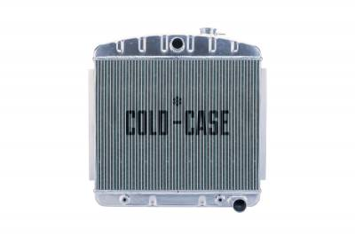 Radiators - Aluminum Radiators - Cold Case - 55-56 Tri-5 Chevy Aluminum Radiator 6 Cyl (Front Mount) Cold Case Radiators