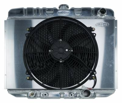 Radiators - Radiator Combos - Cold Case - 67-70 Mustang SB 24 Inch Aluminum Performance Radiator And 16 Inch Fan Kit AT Cold Case Radiators