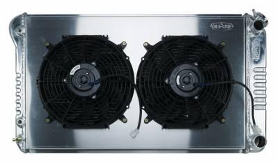 Radiators - Radiator Combos - Cold Case - 68-72 A-Body LS SWAP Aluminum Radiator And Dual 12 Inch Fan Kit Cold Case Radiators