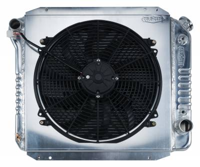 Radiators - Radiator Combos - Cold Case - 66-77 Ford Bronco Aluminum Performance Radiator And 16 Inch Fan Kit Cold Case Radiators