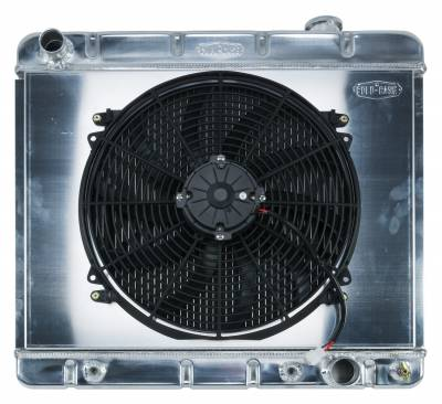Cold Case - 63-66 Chevy/GMC Pickup Truck Aluminum Radiator And 16 Inch Fan Kit AT Cold Case Radiators