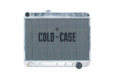 Radiators - Aluminum Radiators - Cold Case - 66-67 GTO Aluminum Radiator W/AC MT Cold Case Radiators