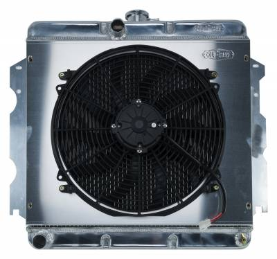 Cold Case - 62-74 A,B,C,E Body SB Aluminum Performance Radiator And 16 Inch Fan Kit MT 18x22 Inch Cold Case Radiators