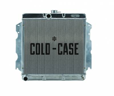 Radiators - Aluminum Radiators - Cold Case - 62-74 A,B,C,E Body SB Aluminum Performance Radiator MT 18x22 Inch Cold Case Radiators