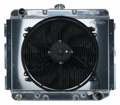 Radiators - Radiator Combos - Cold Case - 68-73 B,C,E Body BB Aluminum Performance Radiator And 16 Inch Fan Kit AT 16x22.75 Inch Cold Case Radiators