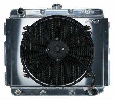 Radiators - Radiator Combos - Cold Case - 68-73 B,C,E Body BB Aluminum Performance Radiator And 16 Inch Fan Kit MT 16x22.75 Inch Cold Case Radiators