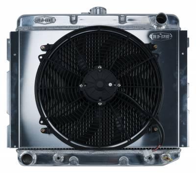 Radiators - Radiator Combos - Cold Case - 68-73 B,E Body BB Aluminum Performance Radiator And 16 Inch Fan Kit 16 x 22 Inch AT Cold Case Radiators