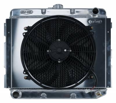 Radiators - Radiator Combos - Cold Case - 68-73 B,E Body BB Aluminum Performance Radiator And Fan Kit 16 Inch x 22 Inch MT Cold Case Radiators