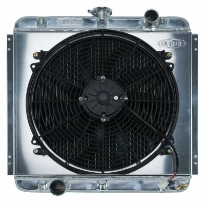 Radiators - Radiator Combos - Cold Case - 67-69 Mustang 20 Inch Aluminum Performance Radiator And 16 Inch Fan Kit MT Cold Case Radiators