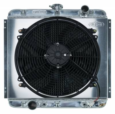 Radiators - Radiator Combos - Cold Case - 67-70 Mustang 20 Inch Aluminum Performance Radiator And 16 Inch Fan Kit AT Cold Case Radiators