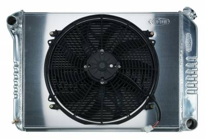 Radiators - Radiator Combos - Cold Case - 68-79 Nova BB Aluminum Performance Radiator And 16 Inch Fan Kit MT Cold Case Radiators