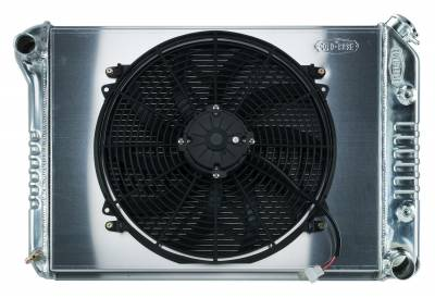 Radiators - Radiator Combos - Cold Case - 68-79 Nova BB Aluminum Performance Radiator And 16 Inch Fan Kit AT Cold Case Radiators