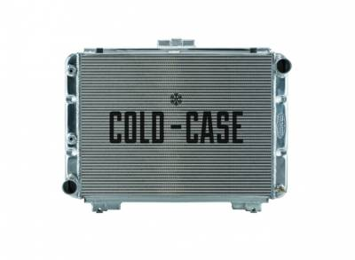 Cold Case - 64 Galaxie Side Tank Aluminum Performance Radiator Automatic Transmission Cold Case Radiators