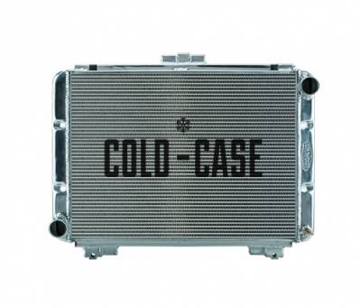 Cold Case - 64 Galaxie Side Tank Aluminum Performance Radiator Manual Transmission Cold Case Radiators