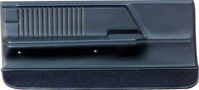 Camaro - Door & Quarter Panels - OER - 1967 Camaro / Firebird Black Deluxe Molded Front Door Panels
