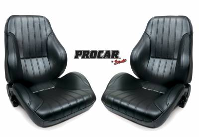 ProCar Complete Seats - Reclining Seats - ProCar by SCAT - Rally 1050 Series Reclining Lowback Seat -Black Vinyl- Pair