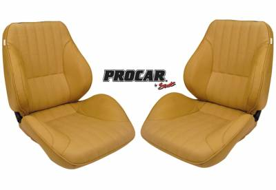 ProCar Complete Seats - Reclining Seats - ProCar by SCAT - Rally 1050 Series Reclining Lowback Seat -Beige Vinyl- Pair