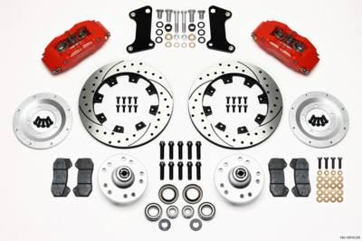 Brakes - Brake Systems - Wilwood Brakes - Red FRONT DISC BRAKE KIT 67-69 CAMARO 12.19 ROTOR