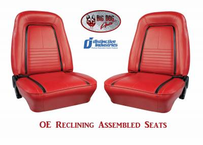 Ready To Install Seats - Distinctive OE Reclining Assembled Seats - Distinctive Industries - 1967 Camaro Deluxe OE Reclining Front Bucket Seats
