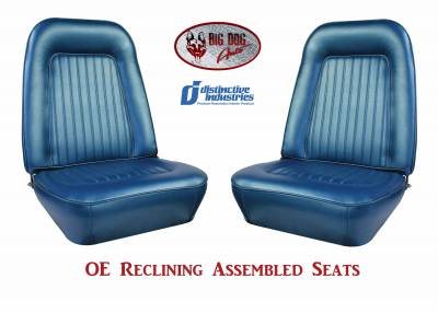 Ready To Install Seats - Distinctive OE Reclining Assembled Seats - Distinctive Industries - 1967-68 Camaro Standard OE Reclining Front Bucket Seats