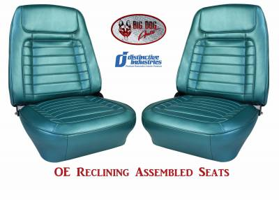 Ready To Install Seats - Distinctive OE Reclining Assembled Seats - Distinctive Industries - 1968 Camaro Deluxe OE Reclining Front Bucket Seats
