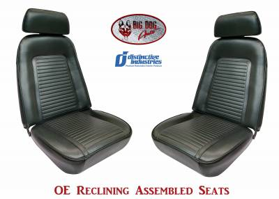 Ready To Install Seats - Distinctive OE Reclining Assembled Seats - Distinctive Industries - 1969 Camaro Standard OE Reclining Front Bucket Seats