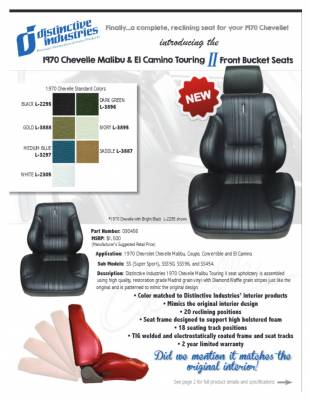 Distinctive Industries - 1970 Chevelle & El Camino Touring II Front Bucket Seats Assembled - Image 2