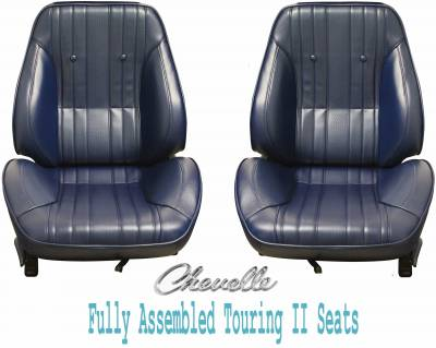 Distinctive Touring II Pre Assembled Seats - Chevelle/El Camino Touring II Seats - Distinctive Industries - 1969 Chevelle & El Camino Touring II Front Bucket Seats Assembled