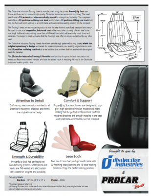 Distinctive Industries - 1968 Chevelle & El Camino Touring II Front Bucket Seats Assembled - Image 4