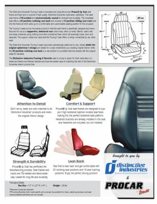 Distinctive Industries - 1967 Chevelle & El Camino Touring II Front Bucket Seats Assembled - Image 7
