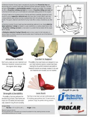 Distinctive Industries - 1966 Chevelle & El Camino Touring II Front Bucket Seats Assembled - Image 4