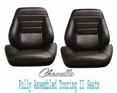 Distinctive Touring II Pre Assembled Seats - Chevelle/El Camino Touring II Seats - Distinctive Industries - 1965 Chevelle & El Camino Touring II Front Bucket Seats Assembled