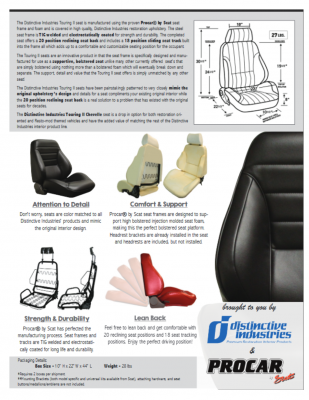 Distinctive Industries - 1965 Chevelle & El Camino Touring II Front Bucket Seats Assembled - Image 4