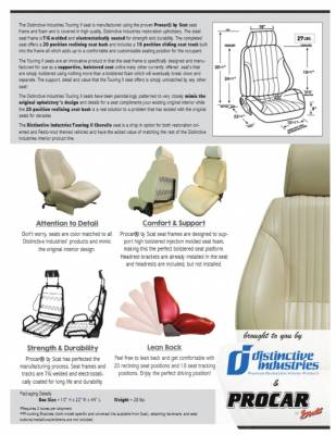 Distinctive Industries - 1964 Chevelle & El Camino Touring II Front Bucket Seats Assembled - Image 5