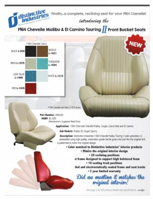 Distinctive Industries - 1964 Chevelle & El Camino Touring II Front Bucket Seats Assembled - Image 6
