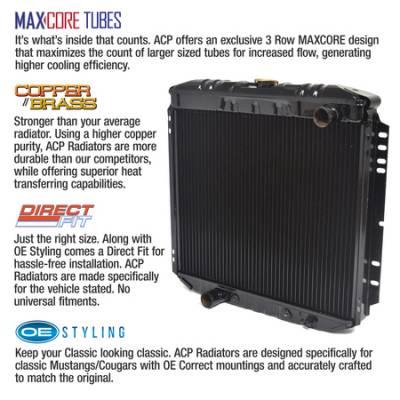 "ACP - Maxcore 3-Row Copper/Brass Radiator 20"" 250/302/351 - Image 2"