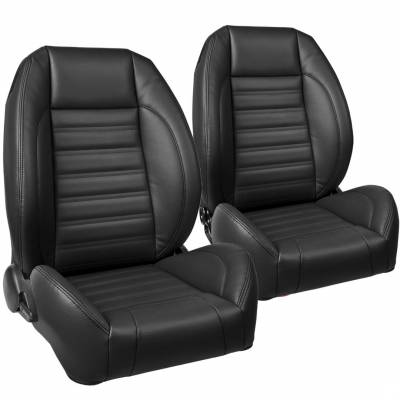 Everything Mustang - TMI Products - TMI Pro Series Low Back Bucket Seats for Mustang 1965- 2018