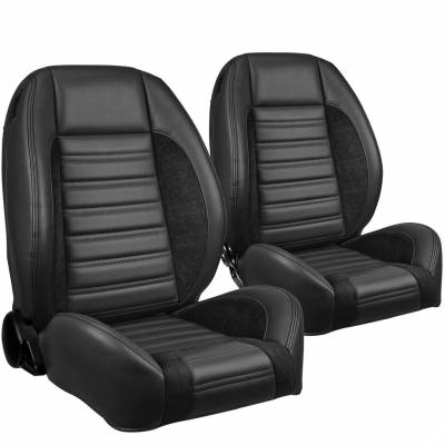 Camaro Upholstery - Pre-Assembled Bucket Seats - TMI Products - TMI Pro Series Sport R Low Back Bucket Seats for Mustang