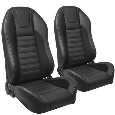Camaro Upholstery - Pre-Assembled Bucket Seats - TMI Products - TMI Pro Series Sport R High Back Bucket Seats for Mustang