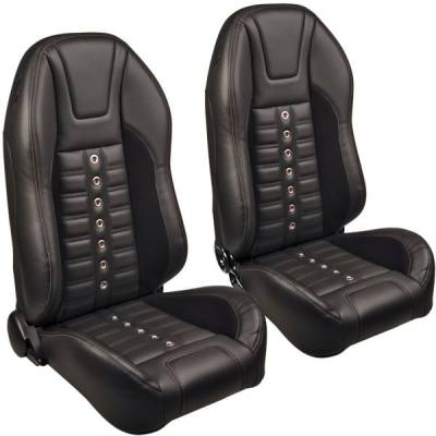 Camaro Upholstery - Pre-Assembled Bucket Seats - TMI Products - TMI Pro Series Sport XR High Back Bucket Seats for Mustang