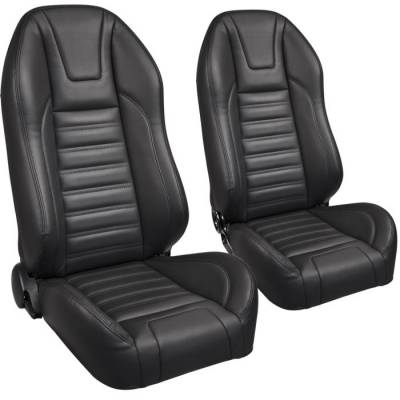 Universal - Pro-Series Low Profile Universal Bucket Seats - TMI Products - TMI Pro Series Sport High Back Bucket Seats - Universal