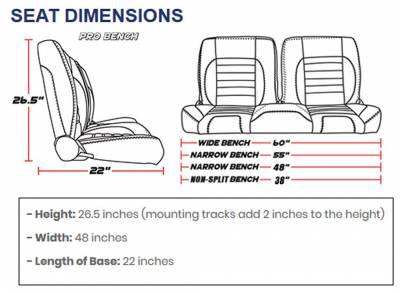 TMI Products - TMI Pro Series Sport XR Low Back Bucket Seats - Universal - Image 7